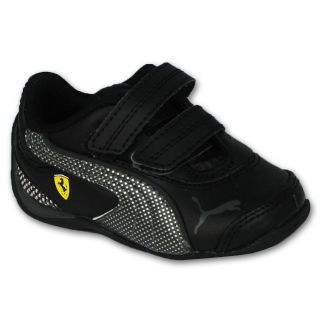 Infants Trainers Boys Puma Ferrari Drift Cat III Casual Velcro Black
