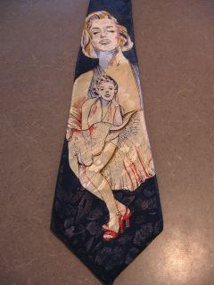vintage FloRence silk neck tie Marilyn Monroe