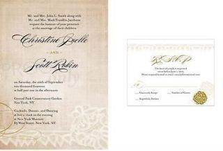 Personalized/Customized Wedding Stationery VINTAGE LACE Invitation
