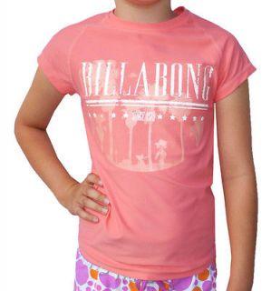 BILLABONG GIRLS (12) CAP SLEEVE WET SHIRT RASHIE RASHVEST SUNBLOCK