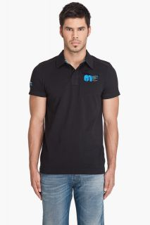Raw 3301 NEW DESIGN VIPER Short Sleeve Polo T Shirt Black L XL XXL