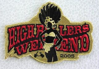Highrollers Weekend 2005 rare Las Vegas scooter RALLY PATCH Vespa