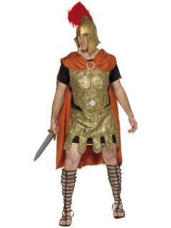 Adult Mens Roman Soldier Tunic Smiffys Fancy Dress Costume   M