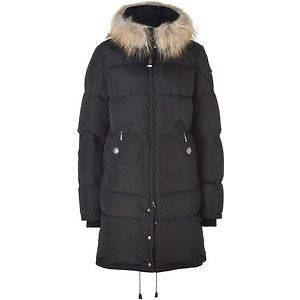 PARAJUMPERS W LIGHTLONG BEAR DOWN JACKET MURMANSKY FUR BLACK