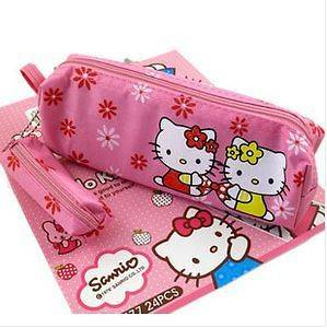 new cute pink Hello Kitty Stationery Make up Pencil Bag Case Pouch #2