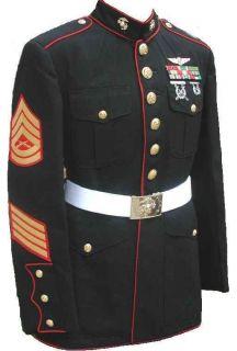 USMC Marine Corps Mens Dress Blues Uniform Jackets Coats Tunics