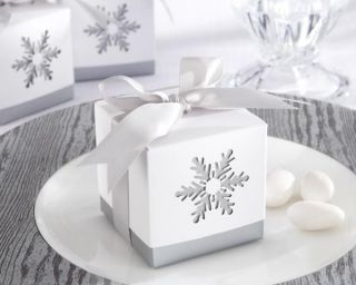 Winter Silver Snowflake Wedding Holiday Party Table Decoration Favor