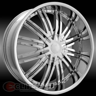 28 inch 28x10 ELR19 chrome wheels rims 5x5 5x127 +13