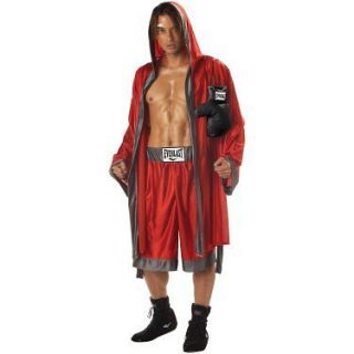 Everlast Boxer Red Robe Shorts Costume M L XL Boxing Gloves