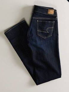 NWT AMERICAN EAGLE STRAIGHT LEG LOW RISE JEANS SIZE 18 SHORT