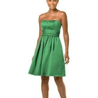 Davids Bridal Bridesmaid Dress, Clover Green, Style #83312, Size 4