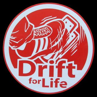 DRIFT FOR LIFE JDM decals stickers emblem drag racing car tune up part