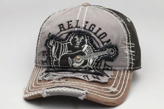 True Religion Cap / Hat TR1101 Black One Size Fits All Adjustable