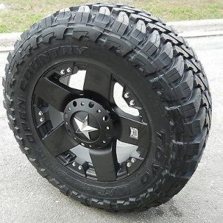 18 BLACK XD ROCKSTAR WHEELS & TOYO OPEN COUNTRY M/T CHEVY DODGE 2500