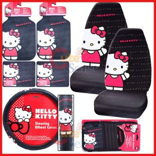 Hello kitty Car Seat Cover Accessories Set  Core 8pc