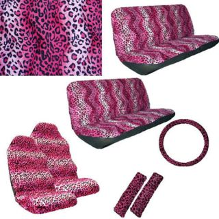 pink cheetah seat covers