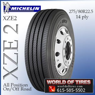 22.5 tire Michelin XZE 2 275/80R22.5 semi truck tires 22.5 tires 22.5
