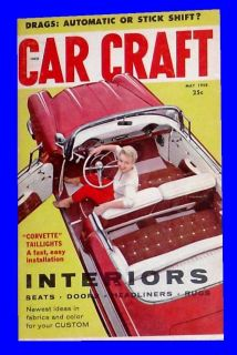 MAY 1958,CORVETTE TAIL LIGHT,CUSTOM SEAT,HEADLINERS,HOT ROD MAGAZINE