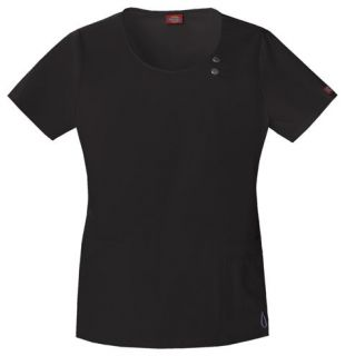 Dickies Scrubs Youtility Round Neck Top in Black   82838BLKZ