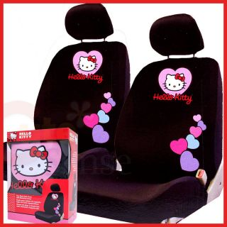 Hello Kitty Car Seat Cover Auto Accessory Low Back 2pc