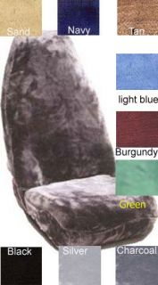 CAR SEAT COVERS IN imitation sheepskin , fun fur choice of colors
