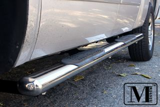 04 08 Ford F150 Supercrew Cab 4 inch Oval Stainless Nerf Bars (Fits F