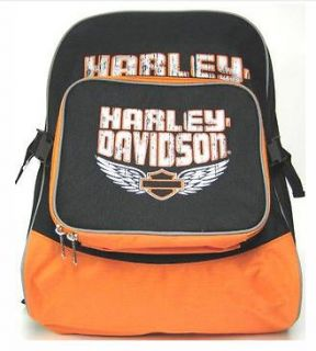 Harley Davidson Motorcycle Backpack Bag with Lunch Box