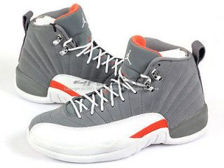 Nike Air Jordan 12 XII Retro Cool Grey/White Team Orange Playoff 2012