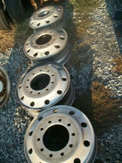 Used alcoa 22.5 aluminum truck wheels