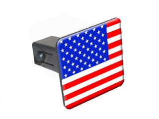 USA Flag   1 1/4 inch (1.25) Trailer Hitch Cover Plug