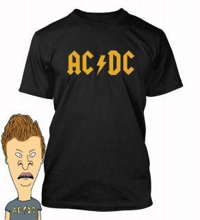 ACDC logo T shirt AC DC Beavis and butt Head Butthead party costume