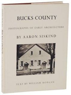 Aaron Siskind Bucks County 1st Edition Hardcover Great Copy
