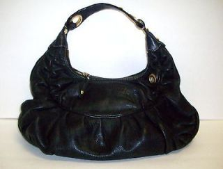 Juicy Couture Abbie Keylock Black Leather Hobo Bag