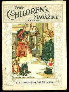 1920 The CHILDRENS MAGAZINE #4  February BIG BROTHERS VALENTINE  CM