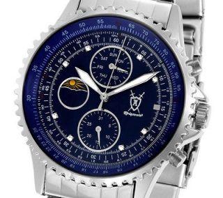 Newly listed Konigswerk Diamond Mens Watch Steel Argos Blue A2