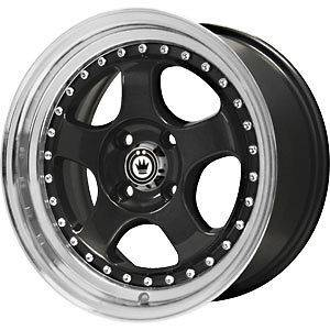 New 16X7 4x100 KONIG Candy Black Wheels/Rims