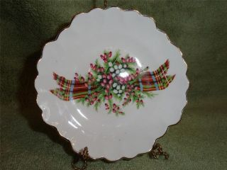SWEET CHRISTMAS PATTERN ROYAL ADDERLEY ENGLAND BONE CHINA DISH