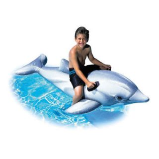 Giant Inflatable Dolphin Swimmng Toy Pool Float Raft