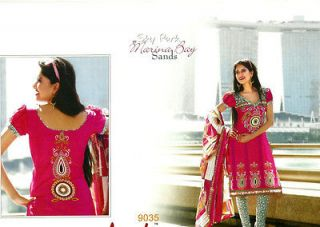 DESIGNER PRINTED COTTON UNSTITCHED ETHNIC SALWAR KAMEEZ INDIAN DRESS