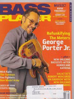 FEB 2006 BASS PLAYER guitar music magazine GEORGE PORTER JR