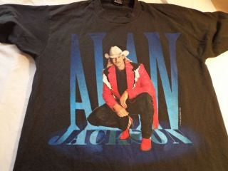 Alan Jackson 1995 Tour t shirt size is Large Front and back