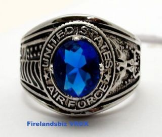 United States Air Force Military Quality Ring Size 12 to 15