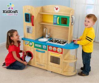 ... KIDKRAFT WOODEN PLAY KITCHEN KIDS CHILDREN PRETEND NEW ...