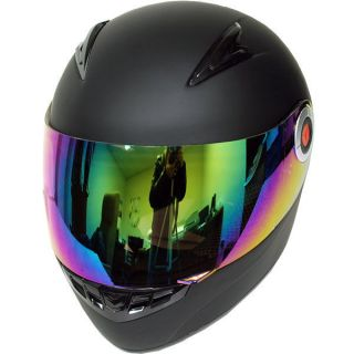New Youth Kids Motorcycle Full Face Helmet Glossy Matte Black Size S M