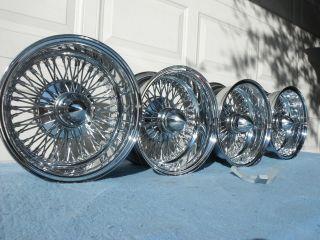 NEW 72 spoke cross lace reverse 13/7 wire wheel dayton style 100