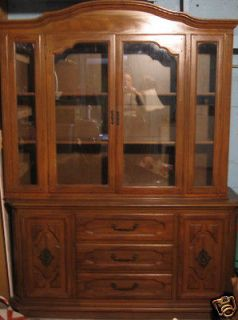 Antique 2 piece China Cabinet Solid Very Heavy