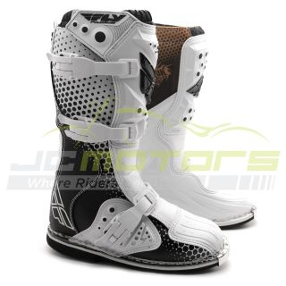 New Fly Racing Youth Kids Vapor Motocross Dirt Bike Boots Size 4