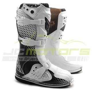 New Fly Racing Youth Kids Vapor Motocross Dirt Bike Boots Size 4