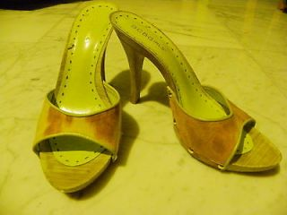 BCBG 4 Heels, sz 6.5 Beige Camo, Used, good cond.