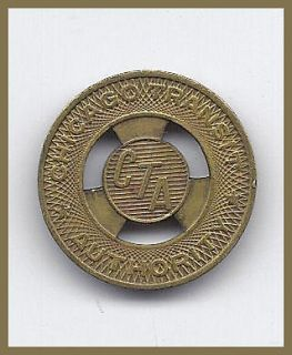 ONE) TRANSIT TOKEN IL 150 AC CHICAGO TRANSIT AUTHORITY 20mm BRASS